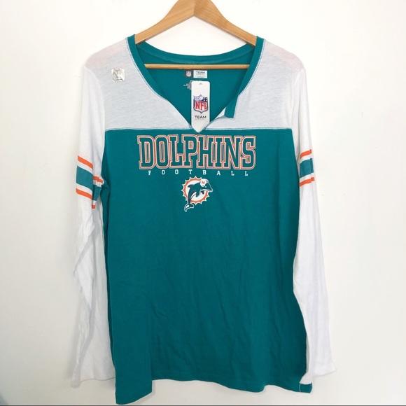 hot sale online d078d e09ba NFL Team Apparel | Miami Dolphins long sleeve top NWT
